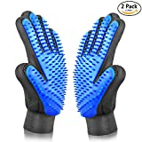 #1: ASENKU Pet Grooming Glove Comfortable Efficient Pet Hair Remover Mitt Perfect for Cats & Dogs with Long or Short Fur Breathable Washing Deshedding Massage Tool, One Pair