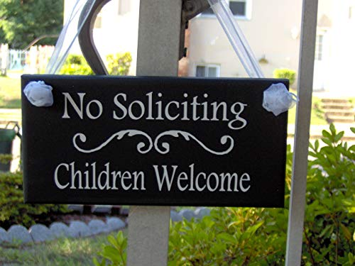 Boy Door Hanger - WoodSign MarthaFox No Soliciting Sign Children Welcome Vinyl Sign New Home Entryway Door Hanger Boy Girl Scouts House Garden Yard Sign Door Sign