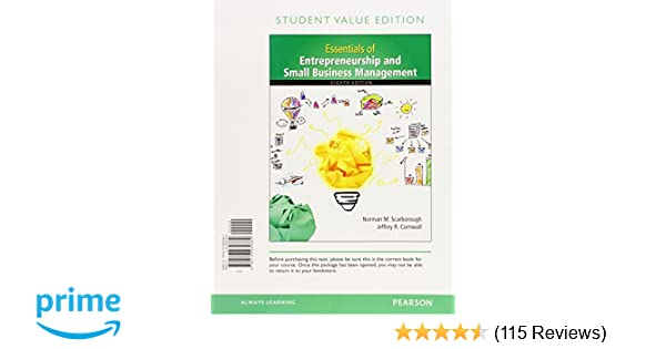 Essentials of entrepreneurship and small business management essentials of entrepreneurship and small business management student value edition 8th edition norman m scarborough jeffrey r cornwall fandeluxe Choice Image