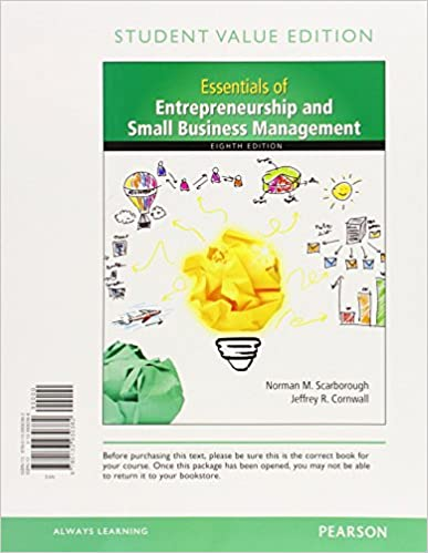 Essentials of entrepreneurship and small business management essentials of entrepreneurship and small business management student value edition 8th edition 8th edition fandeluxe Choice Image
