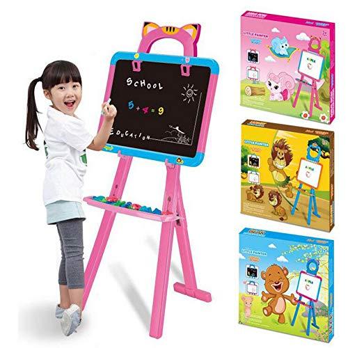 Consiglio di cavalletto in legno Giocattoli educativi per la prima infanzia, Cavalletto magnetico regolabile regolabile per cavalletto pieghevole per bambini Altezza regolabile ( colore   Giallo )