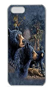 Find 13 Black Bears PC Case Cover for iPhone 5 and iPhone 5s Transparent