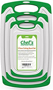 Chef's Inspirations 3 Piece Cutting Board Set.
