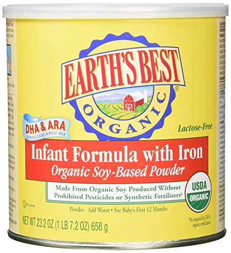 Earth's Best Organic Soy Infant Formula with Iron, 23.2 Ounce (Pack of 4) by Earth's Best