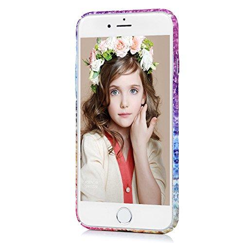 """YOKIRIN Coque pour iPhone 7 4.7"""", Housse PC Plastique Couverture Complète Lumineuse Doux Étui Ultra Mince Coque Motif de Peinture Coloré Dessin Vivant Cover Protection de Téléphone Case - Motif Coloré"""