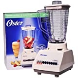 Oster 4107 blender - Licuadora (Plastic, Stainless steel, Transparent, White)
