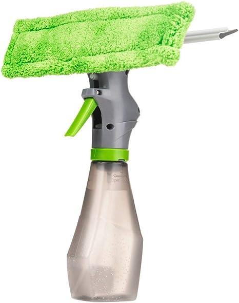 STTC Enjugadores de Ventana 3 en 1, Botella Pulverizadora con Bayeta de Microfibra Limpiacristales, Limpieza de Cristales, Ventanas de Coche, Limpiador de mampara de Ducha: Amazon.es: Deportes y aire libre