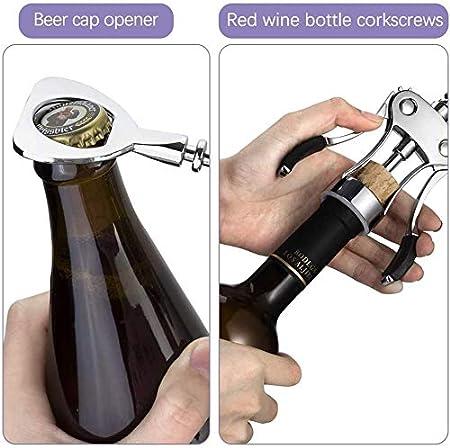 Sacacorchos de camareros con tapón de Botella para camareros entusiastas del Vino, Sacacorchos de aleación de Zinc Tapón de Vino Aleación de Zinc Sacacorchos de sacacorchos