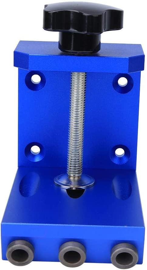 Pocket Hole Drill Guide, Pocket Hole Drill Guide 3-Holes Aluminum Alloy Woodworking Hole Punch Locator Tool 9mm, Punch Locator, Woodworking Hole Punching Tool(#2) #2