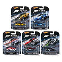 Hot Wheels 2016 Retro Entertainment FORZA Motorsport Set of 5 1/64 Scale Collectible Die Cast Toy Model Cars
