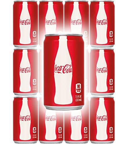 Coca-Cola, 7.5 Fl Oz Mini Can (Pack of 12, Total of 90 Oz) (6 Oz Soda)