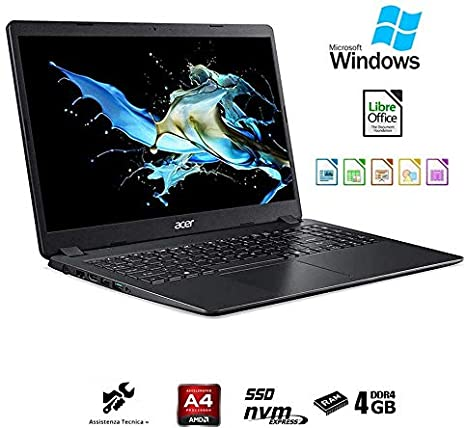 Acer Ordenador portátil 15.6 (AMD A4 2.2 GHz Burst Mode,4 GB de ...