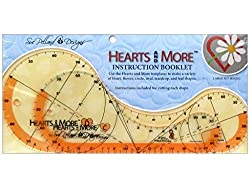 Hearts & More Large Template Set: 5 Inches X 12 Inches & 4 Inches X 9 Inches
