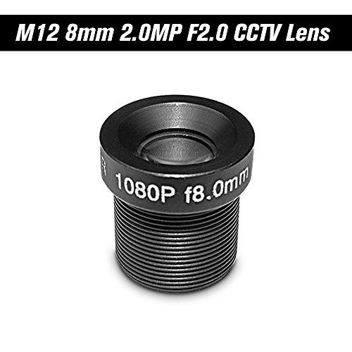 - OWSOO HD 2.0Megapixel 2MP 8mm M12 CCTV Board Lens IP Camera Lens F2.0 Fixed Iris M12P0.5 1/2.7