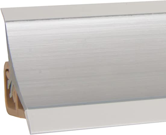 Holzbrink Plinthe De Comptoir De Cuisine 23x23 Mm 150 Cm Aluminium