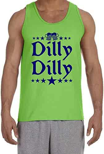 601a735f CLOTHING WORLD Dilly Dilly Fourth of July American Funny Beer Men's Tank Top