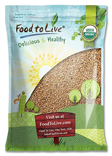 Organic Wheat Berries, 5 Pounds - Non-GMO, Kosher, Raw, Sproutable, Vegan, Sodium and Sugar Free