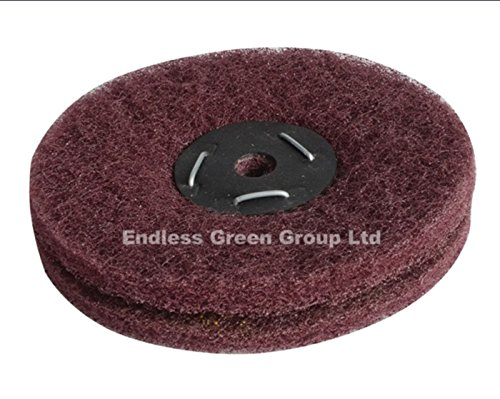 Bolpol - Non Woven Abrasive Wheel - to fit Drill or Bench Grinder 100mm / 4 inch FINE - W100/F2 Bolpol products are made in the UK