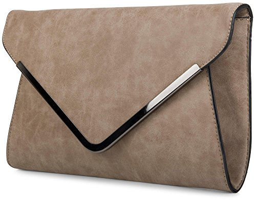 with Color evening shoulder strap wrist ladies bag strap styleBREAKER Khaki envelope clutch 02012047 envelope sleeve Camel and qYx6Fw