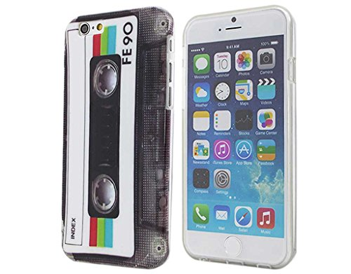iPhone 6 Case Retro Cassette Tape, BONAMART - Silicone Gel TPU Cover Skin - For Apple iPhone 6 6s(4.7
