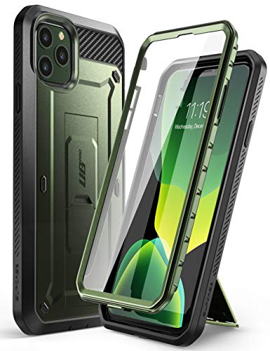 Supcase Unicorn Beetle Pro Series Case Designed for iPhone 11 Pro Max 6.5 Inch (2019 Release), Built-in Screen Protector Full-Body Rugged Holster Case(MetallicGreen)