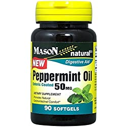 Mason Natural Enteric Coated Soft Gels, Peppermint Oil, 50 Mg, 90 Count