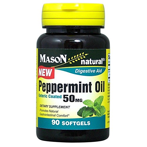 Mason Natural, Peppermint Oil, Enteric Coated Soft Gels, 50 Mg, 90 Count, Herbal Dietary Supplement Supports Healthy Digestion, Promotes Natural Gastrointestinal Comfort, May Help Those with (Enteric Coated Drugs)