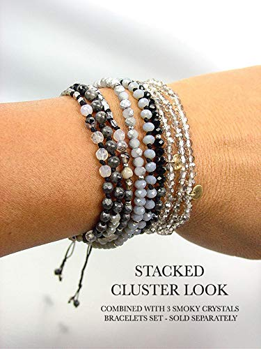 Urban Artisanal Hematite Black Onyx Silver Bracelet Crystals Wrap Bracelets For Women Necklace