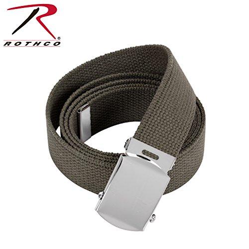 Rothco Plus Military Web Belts, Olive Drab - Chrome, 54