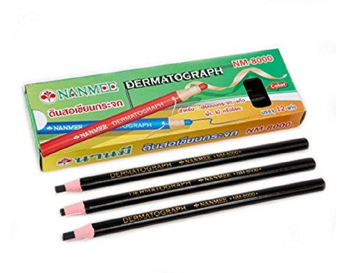 nanmee-glass-making-pencil-nm-8000-black-12-pieces-box