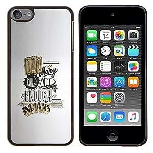 Jordan Colourful Shop - FUNNY QUOTE TOO MANY CHEFS GOLD For Apple iPod Touch 6 6th Generation - < Personalizado negro cubierta de la caja de pl????stico > -
