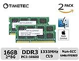 Image of Timetec Hynix IC Apple 16GB Kit (2x8GB) DDR3 1333MHz PC3-10600 SODIMM Memory upgrade For iMac 12,2 (27-inch Mid 2011), iMac 21.5-inch Mid 2011, Mac mini 5,1 & Mac mini 5,2(Mid 2011) and more (16GB Kit (2x8GB))