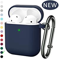 for Airpod Case, MARGE PLUS Silicone Airpods Case Cover (Front LED Visible) Compatible for Apple Airpods 2&1 Charging Case