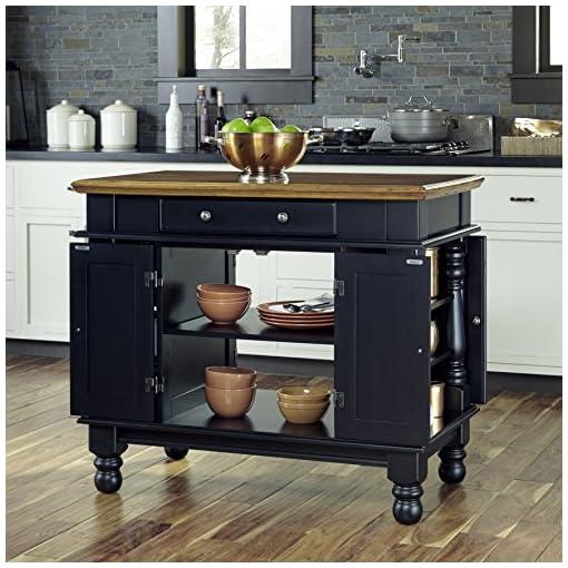 Farmhouse Kitchen Americana Gray Kitchen Island by Home Styles farmhouse kitchen islands and carts