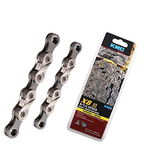 7767eeda492 KMC X8.93, 6,7,8 Speed Chain for Trekking 116 Links Half Nickel Plated  Original