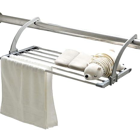 JHome-Tendederos Colgante Secador Bastidor Radiador Airer Toalla de Acero Inoxidable Ropa Ropa Plegable Lavadero