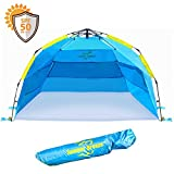 Summer Breeze Quick & Easy Pop up Beach Tent - Superior Family Privacy, Fun and Sun Protection (Large: 95'' W x 52'' H x 51'' D)