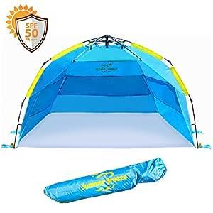 Amazon Com Summer Breeze Quick Amp Easy Pop Up Beach Tent