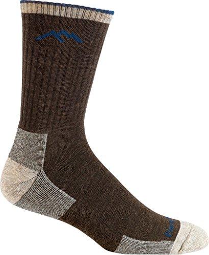 Darn Tough 1466 Men's Merino Wool Micro Crew Cushion Socks, Chocolate, Medium (8-9.5) by Darn Tough