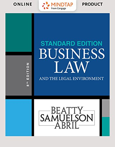 Standard Loose Leaf - Bundle: Business Law and the Legal Environment, Standard Edition, Loose-leaf Version, 8th + MindTap Business Law, 2 terms (12 months) Printed Access Card