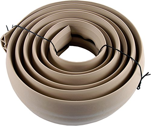 Power Gear Extension Cord Cover, Flexible Wire Cover for Floor or Wall, Durable Cable Protector, 10ft Long, PVC, Easy Installation, Tan, 43002