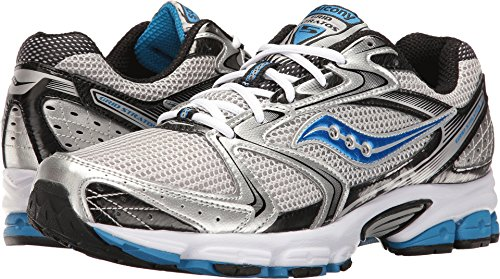 Saucony Men's Grid Stratos 5 Silver/Black/Royal Athletic Shoe Saucony Sport Shoes