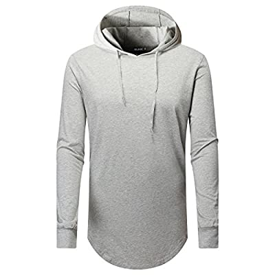 New OLRIK Men's Hipster Hip Hop Hoodie Side Zipper Tshirt for cheap