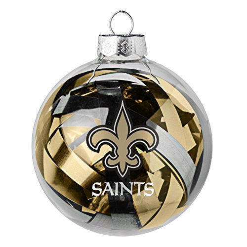 NFL New Orleans Saints Large Tinsel Ball Ornament