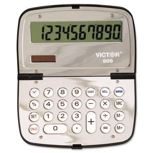 Victor Tecnologías 909Handheld Calculadora compacta, visualización LCD de 10dígitos (909)