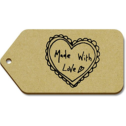 Azeeda With Large tg00012325 X 51mm 'Made 99mm Tag bagaglio regalo 10 Love' rwfIPZqxrE