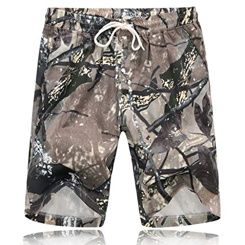 (Beach Shorts Simayixx Men's Summer 3D Printed Swim Trunks Teens Quick Dry Hawaiian Shorts Pockets Short Pants Plus Size Camouflage)