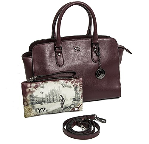 Borsa donna Y Not bauletto in vera pelle 720 M WINE