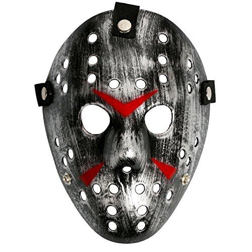 Costume Prop Horror Hockey Halloween Myers (adult, silver black)
