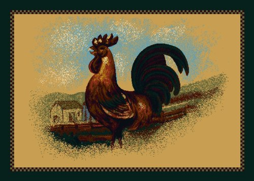 Milliken Fall Seasonal Rise and Shine Rooster Novelty Rug 2'8